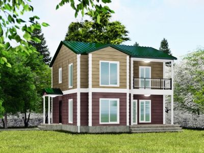 Moğola 140 m² İki Katlı Prefabrik Ev