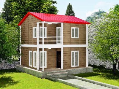 Garziya 80 m² İki Katlı Prefabrik Ev