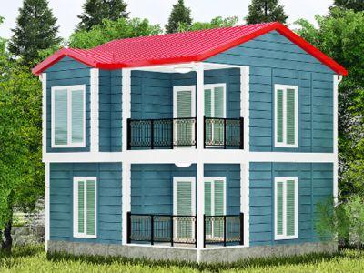 Argaliya 98 m² İki Katlı Prefabrik Ev