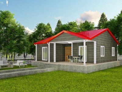 İhtimena 85 m² Tek Katlı Prefabrik Ev