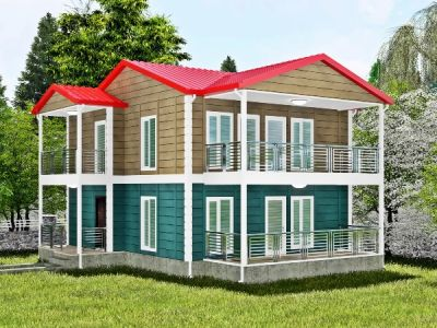 Kuçera 168 m² İki Katlı Prefabrik Ev